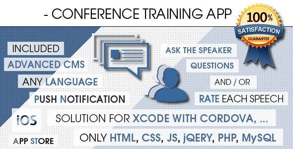 Conference Training App With CMS - iOS [ 2021 Edition ]