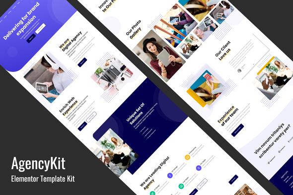 Download AgencyKit – Portfolio Elementor Template Kit Nulled