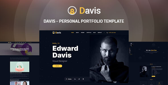 Download Davis – Personal portfolio template Nulled