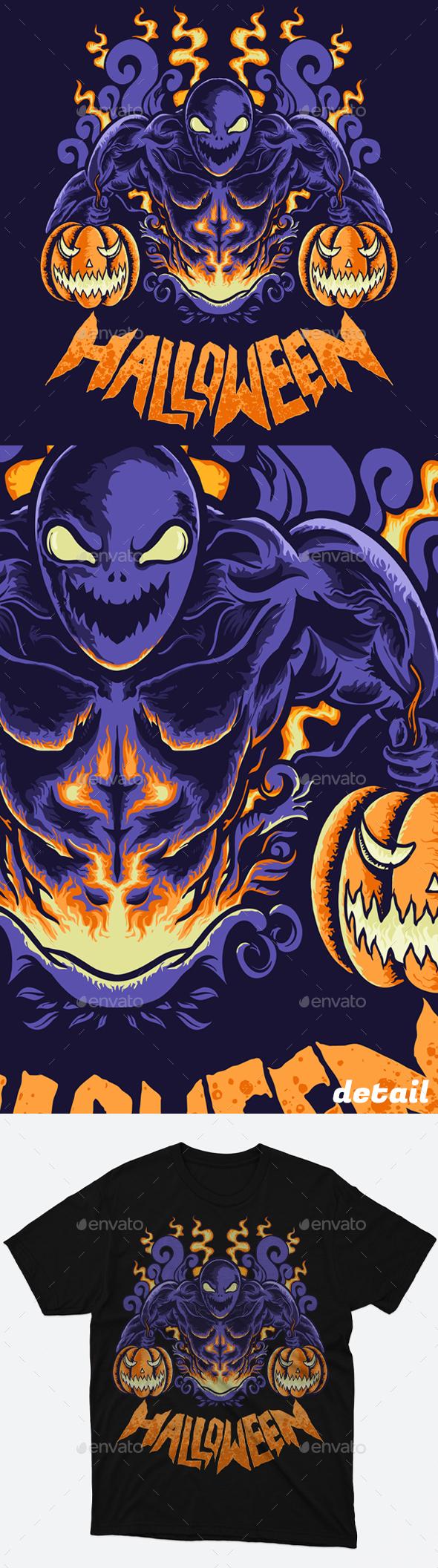 Pumpkin Halloween Monster