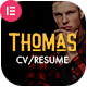 Thomas - CV/Portfolio Elementor Template Kit - ThemeForest Item for Sale