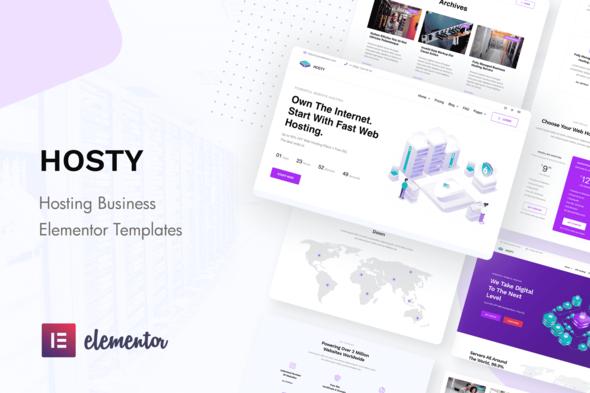 Hosty - Hosting Services Elementor Template Kit