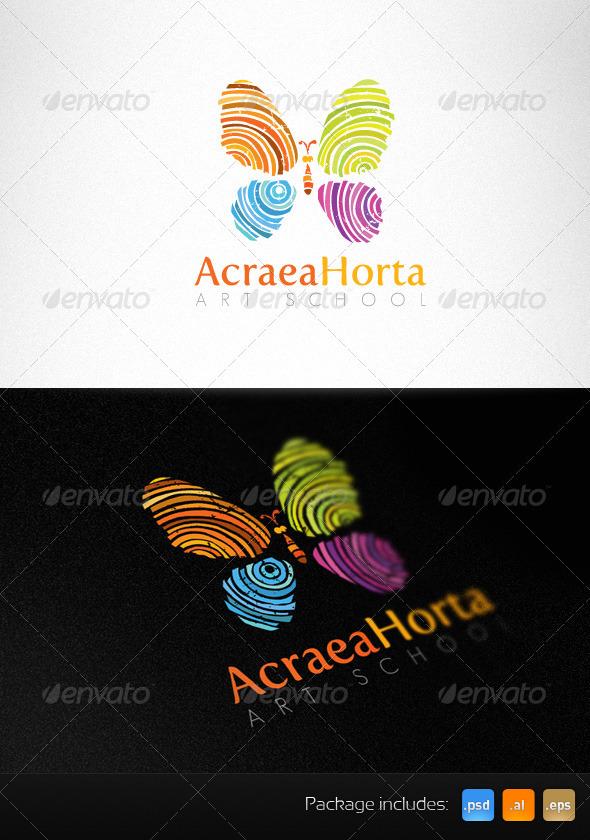 Art School Handmade Creative Logo Template