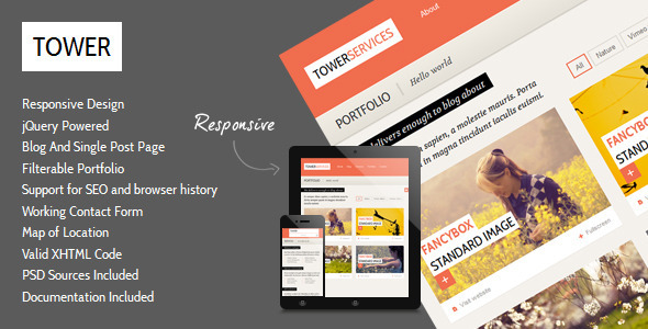 Tower - Clean Responsive Template
