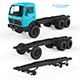 Chassis Mercedes Benz NG 3D Printing Model - 3DOcean Item for Sale