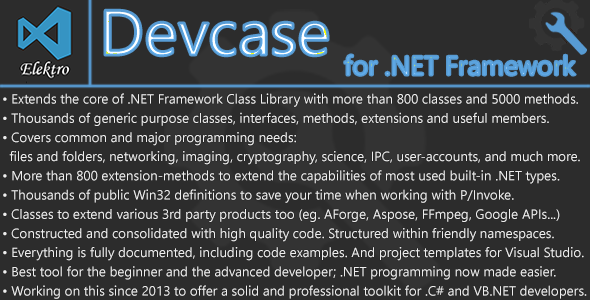 DevCase for .NET Framework