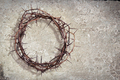 Crown of thorns on grunge rock texture - PhotoDune Item for Sale