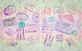 Retro Passport Stamps - PhotoDune Item for Sale