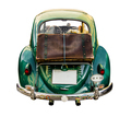Isolated Vintage Car With Suitcase - PhotoDune Item for Sale