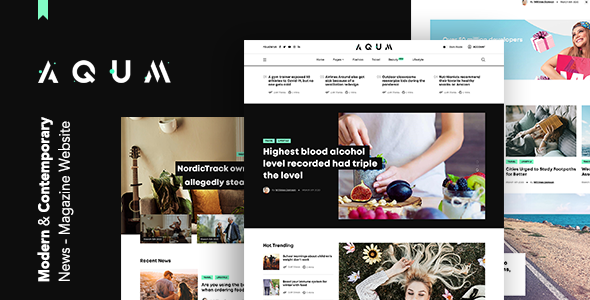 Download Aqum | Contemporary News and Magazine HTML Template Nulled