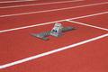 Athletics Starting Blocks On Race Track - PhotoDune Item for Sale