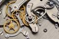 Analog mechanical stopwatch mechanism gears inside. - PhotoDune Item for Sale
