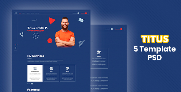 Download Titus – Personal Resume PSD Template Nulled