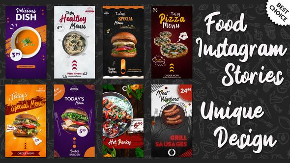 Food Instagram Stories Pack