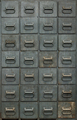 Old gray metal cabinet with drawers - PhotoDune Item for Sale