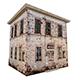 3D old low poly building model - 3DOcean Item for Sale