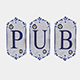 old stone pub sign - 3DOcean Item for Sale