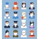 Face Avatars in Mask New Normal - People - GraphicRiver Item for Sale