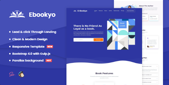 Download Ebookyo – Ebook HTMLLanding Page Template Nulled