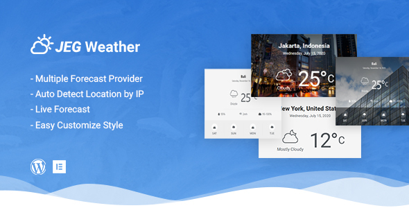 Download Jeg Weather Forecast WordPress Plugin – Add Ons for Elementor and WPBakery Page Builder Nulled