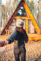 Beautiful girl walking at autumn warm day - PhotoDune Item for Sale