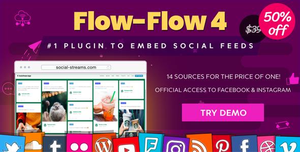 Facebook Instagram Twitter Feed — WordPress Social Feed Grid Gallery Plugin
