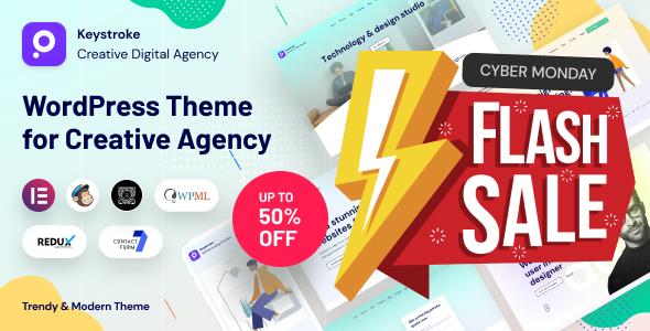 Keystroke - Creative Agency, Digital Agency WordPress Theme
