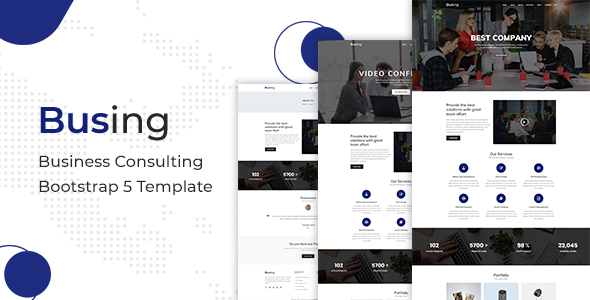Download Busing – Business Consulting Bootstrap 5 Template Nulled
