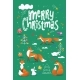 Merry Christmas Poster in Scandic Doodle Style - GraphicRiver Item for Sale