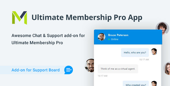Ultimate Membership Pro Chat & Tickets App for Support Board
