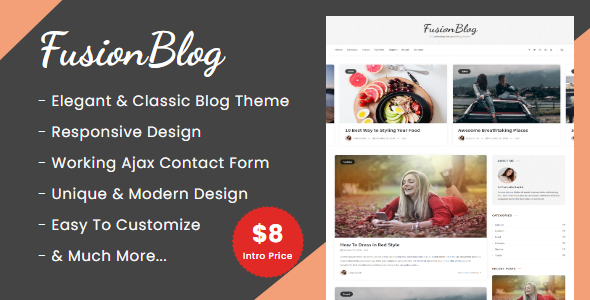 FusionBlog - Personal Blog Theme