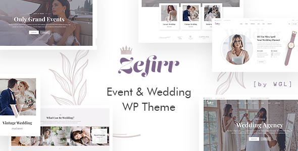 Zefirr - Event & Wedding Agency WP Theme