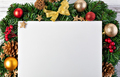 Christmas tree branches with paper card note - PhotoDune Item for Sale