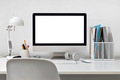 Desktop computer on a white - PhotoDune Item for Sale