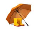 orange umbrella and gumboots - PhotoDune Item for Sale