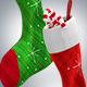 Christmas Socks 3D Renders - GraphicRiver Item for Sale