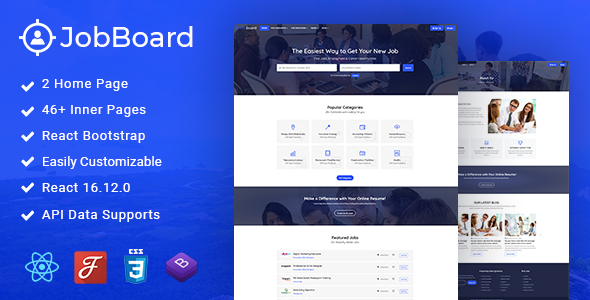 Download Job Board – Job Admin React Template Nulled