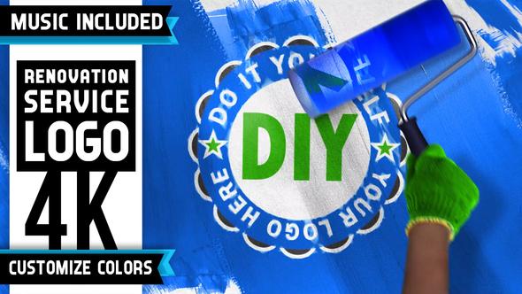 Renovation Painting Logo