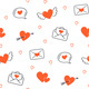Valentines Day. Seamless Pattern with Hearts - GraphicRiver Item for Sale