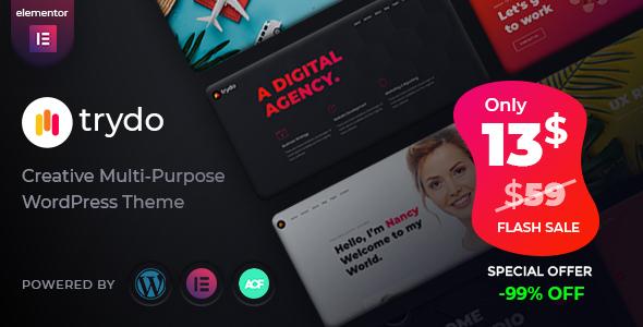 Trydo - Creative Agency, Digital Agency & Portfolio WordPress Theme