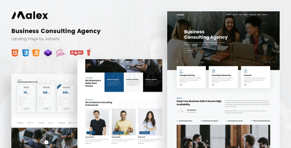 Download Malex – Business Consulting Agency Landing Page Nulled