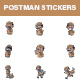 Postman Stickers Set - GraphicRiver Item for Sale