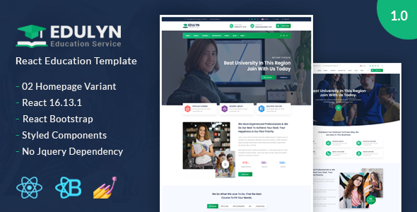 Download Edulyn – React Education Template Nulled