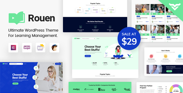 Download Rouen – An E-learning Education WordPress Theme Nulled