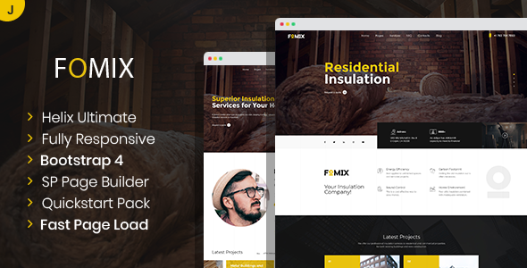 Download Fomix – House Insulation & Energy Efficiency Joomla Template Nulled