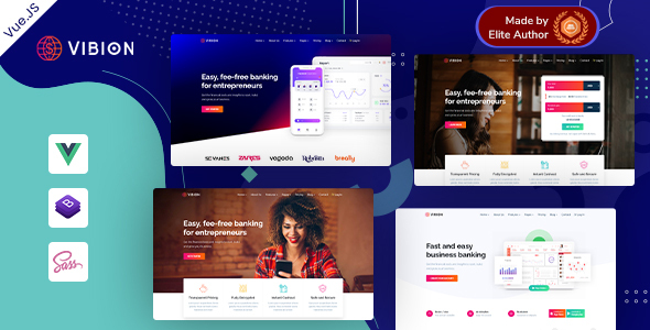 Download Vibion – Vue JS Online Banking & Payment Template Nulled