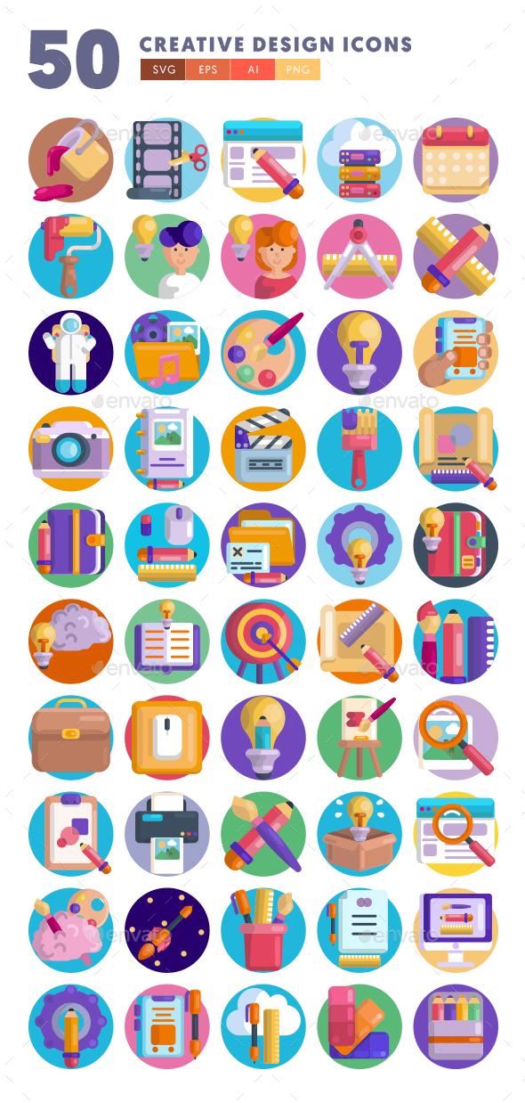 50 Creative Design Icons