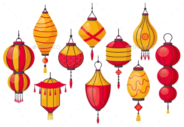 Oriental Traditional Lantern. Chinese Paper