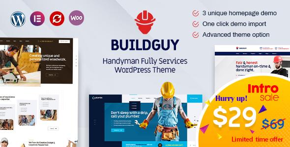 Buildguy - Handyman Services WordPress Theme