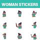 Woman Sticker Set - GraphicRiver Item for Sale